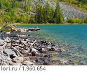 Купить «Алтай. Озеро Среднее Мультинское», фото № 1960654, снято 21 августа 2010 г. (c) Andrey M / Фотобанк Лори