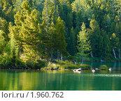 Купить «Алтай. Озеро у подножия горы Красная», фото № 1960762, снято 18 августа 2010 г. (c) Andrey M / Фотобанк Лори