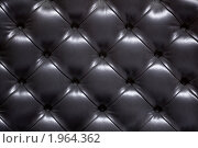 Купить «Черная кожаная обивка дивана», фото № 1964362, снято 12 мая 2010 г. (c) Игорь Долгов / Фотобанк Лори