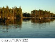 Закат на реке Семча. Стоковое фото, фотограф Валентин Сурков / Фотобанк Лори