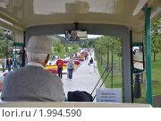 Электробус в Царицыно (2009 год). Редакционное фото, фотограф Абушкина Мария / Фотобанк Лори