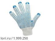 Купить «Рабочая перчатка, изолированно на белом фоне», фото № 1999250, снято 23 сентября 2010 г. (c) Звягинцев Сергей / Фотобанк Лори
