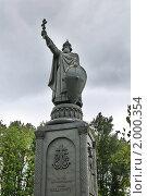 Купить «Белгород. Памятник князю Владимиру», эксклюзивное фото № 2000354, снято 8 сентября 2010 г. (c) Ольга Визави / Фотобанк Лори
