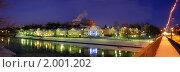 Торжок.ночная панорама исторической части города. Стоковое фото, фотограф Юрков Виктор Петрович / Фотобанк Лори