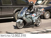 Купить «Мотоциклист на  Kawasaki», эксклюзивное фото № 2002310, снято 21 мая 2010 г. (c) Алёшина Оксана / Фотобанк Лори