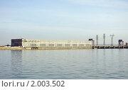 Новосибирская ГЭС. Вид с водохранилища. Стоковое фото, фотограф Андрей Дегтярев / Фотобанк Лори