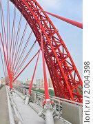 Купить «Ванты и опора Живописного моста. Фрагмент», эксклюзивное фото № 2004398, снято 13 августа 2010 г. (c) Алёшина Оксана / Фотобанк Лори