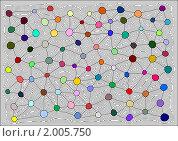 Купить «Цветная сеть», иллюстрация № 2005750 (c) Татьяна Васина / Фотобанк Лори