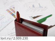 Купить «Документы и ручка на рабочем столе», фото № 2009230, снято 21 августа 2010 г. (c) Андрей Липко / Фотобанк Лори