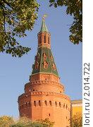 Купить «Угловая Арсенальная башня Московского Кремля», фото № 2014722, снято 30 сентября 2010 г. (c) Валерия Попова / Фотобанк Лори