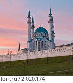 Мечеть Кул-Шариф на закате (2010 год). Стоковое фото, фотограф Иван Сазыкин / Фотобанк Лори