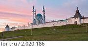 Купить «Казанский кремль и мечеть Кул-Шариф на закате», фото № 2020186, снято 5 сентября 2010 г. (c) Иван Сазыкин / Фотобанк Лори