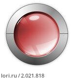 Красная кнопка. Стоковая иллюстрация, иллюстратор Косторная Наталья / Фотобанк Лори