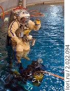 Купить «Джефф Уильямс во время тренировки в гидролаборатории Звездного городка», фото № 2022094, снято 20 февраля 2009 г. (c) Victor Spacewalker / Фотобанк Лори