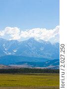 Купить «Курайская степь. Республика Алтай», фото № 2027250, снято 24 июля 2010 г. (c) Сергей Болоткин / Фотобанк Лори