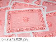 Купить «Игральные карты лицевой стороной вниз», фото № 2028298, снято 11 декабря 2009 г. (c) Losevsky Pavel / Фотобанк Лори