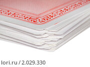 Купить «Колода игральных карт», фото № 2029330, снято 11 декабря 2009 г. (c) Losevsky Pavel / Фотобанк Лори