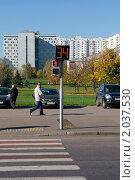 Купить «Светофор. Пешеходный переход.», фото № 2037530, снято 9 октября 2010 г. (c) Куликова Татьяна / Фотобанк Лори