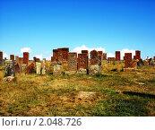 Купить «Хачкары, Норатус, Армения», фото № 2048726, снято 19 сентября 2010 г. (c) Татьяна Крамаревская / Фотобанк Лори