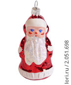 Елочная игрушка Дед Мороз, 80-е годы 20 века. Стоковое фото, фотограф Володина Ольга / Фотобанк Лори