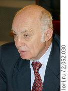 Купить «Сергей Кононыхин, спортивный комментатор», фото № 2052030, снято 5 апреля 2006 г. (c) Владимир Ременец / Фотобанк Лори