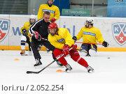 Купить «Мастер - класс легенд мирового хоккея в Балашихе», эксклюзивное фото № 2052254, снято 13 октября 2010 г. (c) Дмитрий Неумоин / Фотобанк Лори