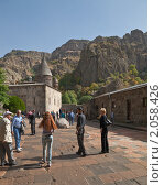 Купить «Двор монастыря Гегард, Армения», фото № 2058426, снято 9 октября 2010 г. (c) Иван Сазыкин / Фотобанк Лори