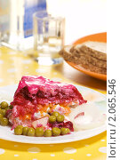 "Купить «Салат ""селёдка под шубой""», фото № 2065546, снято 19 октября 2010 г. (c) Влад Нордвинг / Фотобанк Лори"