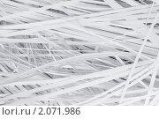 Купить «Полоски бумаги из шредера», фото № 2071986, снято 11 марта 2010 г. (c) Александр Лычагин / Фотобанк Лори