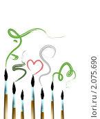 Купить «Кисточки», иллюстрация № 2075690 (c) Евгения Малахова / Фотобанк Лори