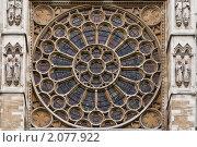 Витраж готического собора. Стоковое фото, фотограф Konstantin / Фотобанк Лори