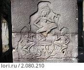 Камбоджа, настенные рисунки в храме Ангкора (2009 год). Стоковое фото, фотограф Светлана Степачёва / Фотобанк Лори