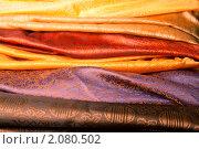 Купить «Индийские ткани», фото № 2080502, снято 8 июня 2010 г. (c) Фрибус Екатерина / Фотобанк Лори