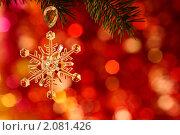 Купить «Рождественская снежинка», фото № 2081426, снято 13 октября 2010 г. (c) yarruta / Фотобанк Лори