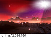 Купить «Горы, туман и яркий свет в горах», иллюстрация № 2084166 (c) ElenArt / Фотобанк Лори