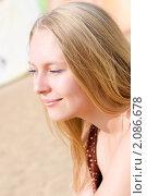 Светловолосая девушка. Стоковое фото, фотограф Анна Назарова / Фотобанк Лори