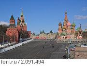 Купить «Вид на Красную площадь с Москворецкого моста», эксклюзивное фото № 2091494, снято 8 марта 2010 г. (c) Алёшина Оксана / Фотобанк Лори