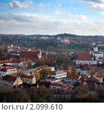 Купить «Вид сверху на старый Вильнюс», фото № 2099610, снято 23 октября 2010 г. (c) Андрей Рыбачук / Фотобанк Лори