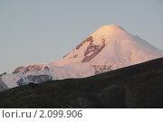 Гора Казбек, рассвет весна. Стоковое фото, фотограф Судаков Валентин / Фотобанк Лори
