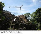 Камбоджа. Реставрационные работы в Анкоре. (2009 год). Стоковое фото, фотограф Светлана Степачёва / Фотобанк Лори