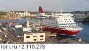Купить «Порт города Турку, Финляндия», эксклюзивное фото № 2110278, снято 15 мая 2010 г. (c) Литвяк Игорь / Фотобанк Лори