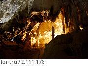 Купить «Крым, пещера Мраморная», фото № 2111178, снято 22 сентября 2010 г. (c) Олег Титов / Фотобанк Лори