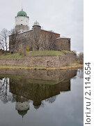 Купить «Выборгский замок поздней осенью. Вид с крепостного моста.», фото № 2114654, снято 6 ноября 2010 г. (c) Виктор Карасев / Фотобанк Лори