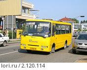 Купить «Маршрутное такси», фото № 2120114, снято 19 июля 2009 г. (c) Art Konovalov / Фотобанк Лори