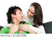 Купить «Счастливая пара», фото № 2120330, снято 13 октября 2010 г. (c) Михаил Лавренов / Фотобанк Лори