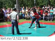 Купить «Бои на сабантуе», фото № 2122338, снято 19 июня 2010 г. (c) Наталья Блинова / Фотобанк Лори