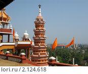 Купить «Башня при храме Ханумана. Панаджи, Гоа, Индия», фото № 2124618, снято 15 февраля 2010 г. (c) Александр Солдатенко / Фотобанк Лори