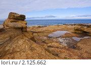 Берег рыжих камней. Полуостров Средний, Побережье Северного ледовитого Океана. Стоковое фото, фотограф Дмитрий Черевко / Фотобанк Лори