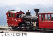Паровоз, везущий на гору Шафберг. Австрия (2010 год). Редакционное фото, фотограф Валерий Степанов / Фотобанк Лори