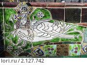 Купить «Декоративный фрагмент парковой скамьи Врубеля в усадьбе Абрамцево», фото № 2127742, снято 31 октября 2010 г. (c) Mick Glowing / Фотобанк Лори